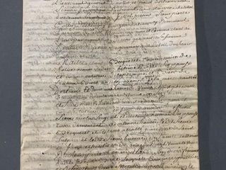 Circa 1736 French Notary Document