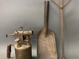 Brass Blow Torch and Blacksmith Tools