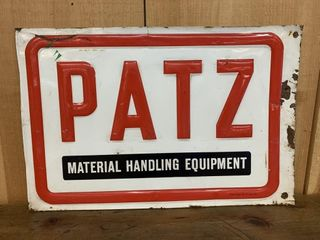Early PATX Material Handling Equipment Sign