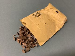 Package of Very Old large Copper Tacks