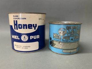 Pair of Early Honey Tins