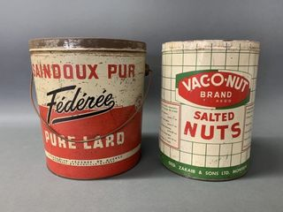 Early Tin Advertising Cans