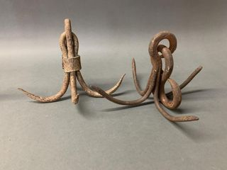 Pair of Forged Grappling Hooks