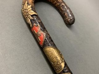 French Highly Decorated Walking Cane