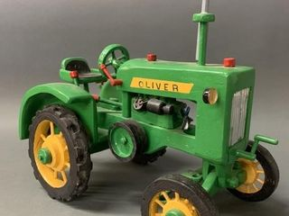 Excellent Oliver Hand Made Wooden Tractor