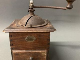 JAPY Wooden Coffee Grinder late 1800 s
