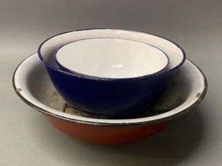 Enamelware Mixing Bowls Early