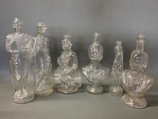 lot of Many Figural Glass Bottles