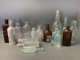 Many Early Medicinal Bottles as Found