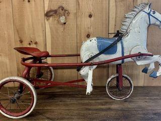 Rare 1930 50 s Tri Ang Horse Pedal Cart