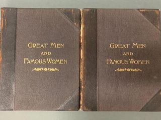 Pair Great Men and Famous Women Hardcovers