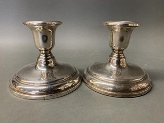 Pair of Birks Sterling Silver Candle Sticks