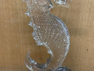 Fine Crystal Seahorse 7  Paper Weight