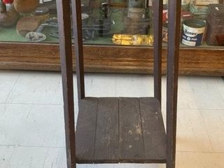 Tall Wooden Plant Stand in Original Finish