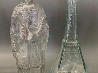Pair of Figural Glass Bottles