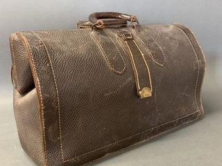 Old leathers Doctors Bag with Brass latch