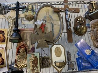 Religious Collectables lot as Found