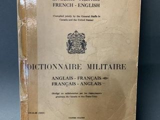 1943 Military Dictionary Book