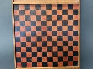 Mid Century Checkers Games Board