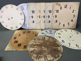 Pequegnat and Other Clock Faces as Found