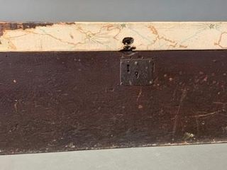 Early Wooden Chest with Original Hardware