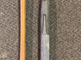 Antique Boat Hook and Fishing Rod