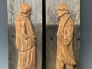 Pair of Excellent French Carvings