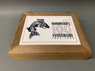 Rare Woodwords Anniversary Porcelain Wood Box