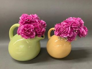 Pair of Beauceware and T C  Green Vases