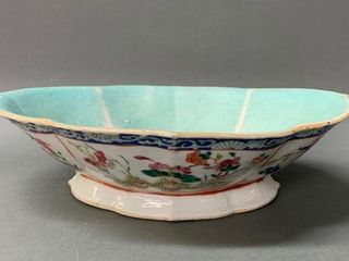 Antique Chinese Family Rose Fruit Bowl 10 1 2
