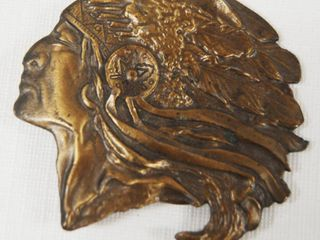 Native American Chief Indian Belt Buckle