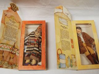 Vintage Dolls   Hallmark  Chief Joseph Collectible Doll   Amelia Earhart Collectible Doll  Both  Famous Americans  1979  Series 1