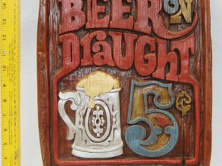 Beer Draught Wall Hanging   Great for a Man Cave