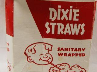 Vintage Straw Holder w  Dixie Straws
