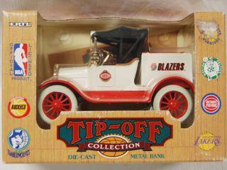 Collectible NBA Western   Blazers     Tip Off  Die Cast  Metal Bank Vehicle  1994   In Original Box