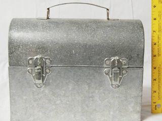 Galvanized Metal lunch Box