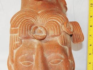 large Mexico Terra Cotta Clay Art   Tribal Man