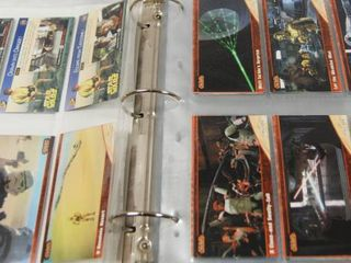 Collection of Star Wars Cards  in Album   See Photos