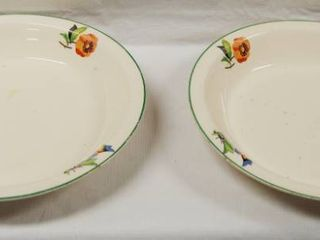 Flowered Pie Plates   Universal Potteries    Oven Proof  Great For Any Occasion