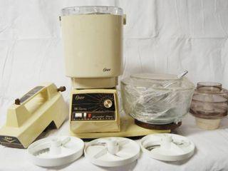 Oster Kitchen Ware   Mixer w  Bowls  Ice Cream Maker  Blender