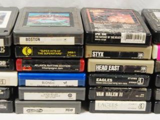 lot of Vintage   8 TRACK TAPES  Boston  Kansas  Eddie Money  Meatloaf  Eagles  Styx  and More  Bring Back Your Memories