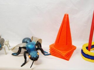 lot of Toys   Toy Bugs  Soccer Cones    Horse Shoe Throw  See Photos