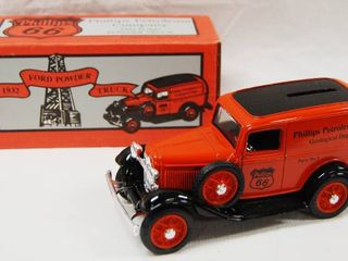 Phillips 66 1932 Ford Powder Truck  Collector Series No  2  Coin Bank  w Key