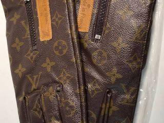 NEW Brown Designer Gloves labeled Made in France  Size large