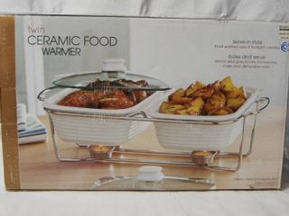 Ceramic Food Warmer  In Original Box  Great For The Holidays