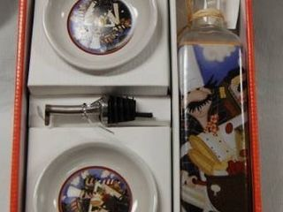 Oil Dipping Set  In Original Box  Great Christmas Gift