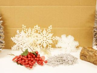 lot of Christmas Decor  Snowflakes  Wood Candle Holder and More