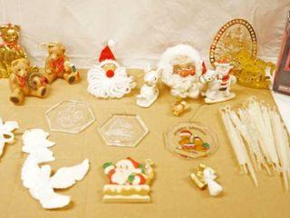 lot of Christmas Ornaments  Santa   Bear Ornaments  Harley Davidson Christmas Collectible Ornament w Original Box    More
