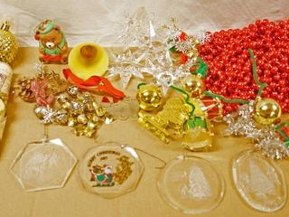 lot of Christmas Ornaments  Beads  and Misc