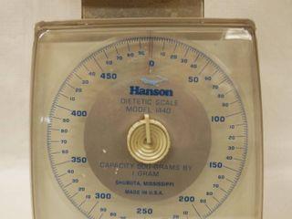 Hanson Dietetic Scale  Model  1440